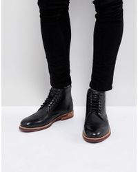 Ted Baker - Hjenno Leather Lace Up Boots - Lyst
