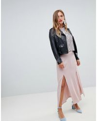 bfb9d39a3 New Look - Split Front Maxi Skirt - Lyst
