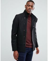 Only & Sons - Asymmetric Wool Overcoat - Lyst