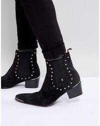 Jeffery West - Sylvian Studded Chelsea Boots In Black - Lyst