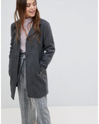 ONLY - Wool Blend Tailored Coat - Lyst