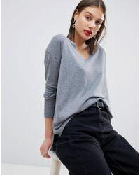 Esprit - Lightweight Knitted Oversized V Neck Jumper - Lyst