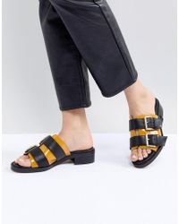 ASOS - Marigold Leather Chunky Sandals - Lyst