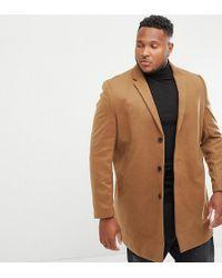 New Look - Plus Overcoat In Camel - Lyst
