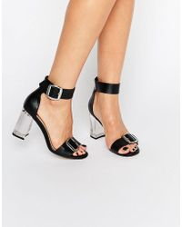 ASOS - Hoola Clear Heeled Sandals - Lyst