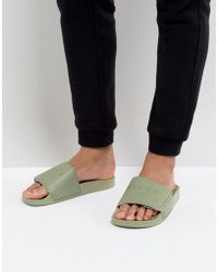 Nicce London Nicce Sliders In Khaki - Green
