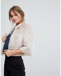 Coast - Sadah Faux Fur Short Jacket - Lyst