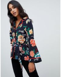 Lipsy - Floral Printed Wrap Top Co-ord - Lyst