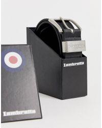 Lambretta - Black Leather Belt In A Box - Lyst