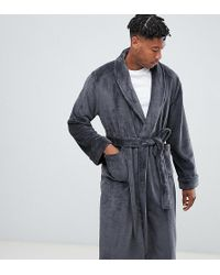 French Connection - Tall Fleece Robe - Lyst