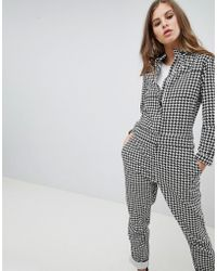 G-Star RAW - Pharrell Jumpsuit In Houndstooth - Lyst