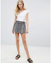 Blend She - Stelle Printed Shorts - Lyst