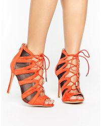 aef7a77c293 Forever Unique - Darcy Tie-up Heeled Sandal - Lyst