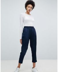 SELECTED - Cropped Tailored Trouser - Lyst