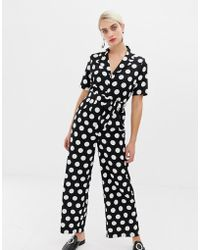2512659237 Lyst - SELECTED Femme Lina Jumpsuit in Black