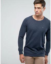 Tommy Hilfiger - Flag Logo Sweatshirt In Navy Marl - Lyst