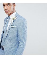 Noak - Slim Wedding Suit Jacket In Linen - Lyst