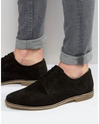 Red Tape - Derby Shoes In Black Suede - Lyst