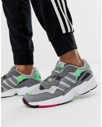 24988b160080b Lyst - adidas Originals Zx Flux Primeknit Sneakers In Gray in Gray ...