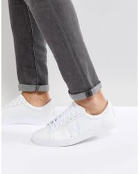 Fred Perry - Spencer Leather Sneakers In White - Lyst