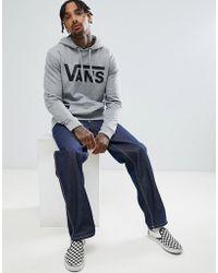 Vans - Classic Pullover Hoodie In Grey V00j8nady - Lyst