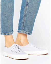 Superga - 2750 Classic Canvas Trainers In Lilac - Lyst