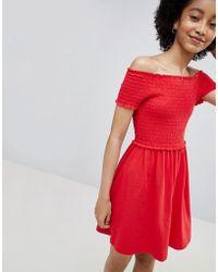 ONLY - Smock Short Sleeve Dress - Lyst