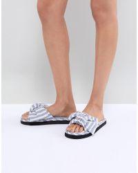 ASOS - Design Nene Knot Slider Slippers - Lyst