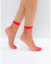 Pieces - Fishnet Socks - Lyst