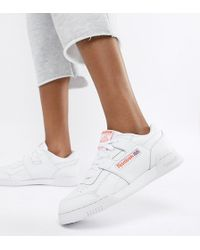 Reebok - Workout Plus White Trainers - Lyst