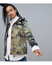The North Face - Womens 1990 Mountain Jacket Gtx In Macrofleck Print - Lyst