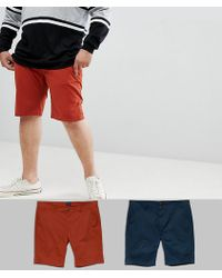 D-Struct - Plus Chino Shorts 2 Pack - Lyst