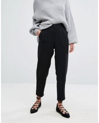 Suncoo - Cigarette Pant With Bow Detail - Lyst