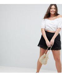 ASOS - Asos Design Curve Culotte Shorts With Lace Hem - Lyst
