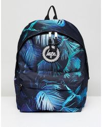 Hype - Neon Palm Print Backpack In Black - Lyst