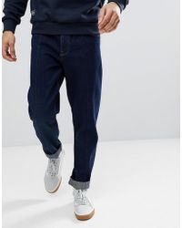 ASOS - Relaxed Tapered Jeans In Indigo - Lyst