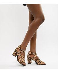 bd0b654ec98 Oasis - Block Heeled Sandal In Animal - Lyst