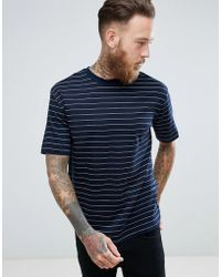Mango - Man Breton T-shirt In Navy - Lyst