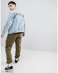 Lee Jeans - Rider Jacket With Doodle Print - Lyst