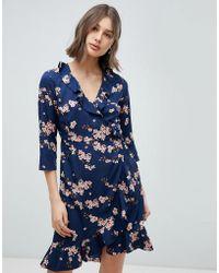 Vero Moda - Floral Wrap Dress - Lyst