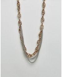 Dyrberg/Kern - Dyrberg/kern Multi Layered Link Necklace - Lyst