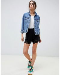 ASOS - Culotte Shorts With Lace Hem - Lyst