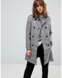 Stradivarius - Check Trench - Lyst