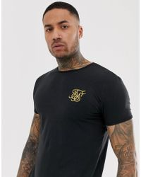 b7f426d3 SIKSILK Long Sleeve T-shirt In Black in Black for Men - Save 51% - Lyst