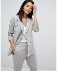 Reiss - Tailored Double Breasted Pinstripe Jacket - Lyst