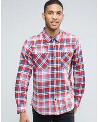 RVCA - Check Shirt - Lyst
