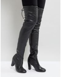 Dune - Sybil Leather Over Knee Boots - Lyst