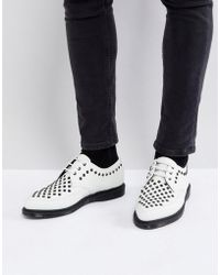 Dr. Martens - Willis Studded Creepers In White - Lyst