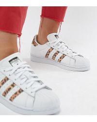 eab549fb4367 Lyst - adidas Originals Originals Gray Gazelle Sneakers With Snake ...