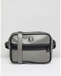 Fred Perry - Metallic Zip Cross Body Bag - Lyst